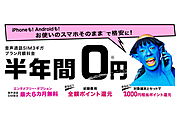 BIGLOBEモバイルのキャンペーンは6か月間0円!【2020年6月】