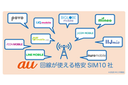 au回線の格安SIM10社を徹底比較!通信速度とサービスでMVNOを選ぶなら